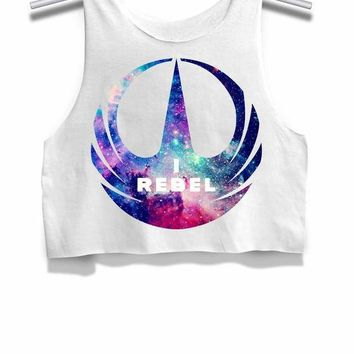 Star Wars I Rebel Galaxy Womens Crop Tank Top