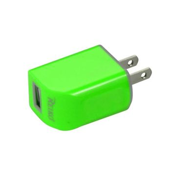 New Micro USB 1 Amp Portable Travel Adapter Charger With Cable In Green