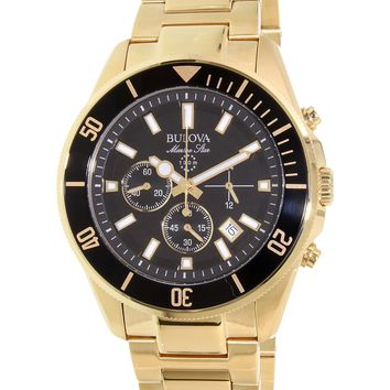 Bulova Mens 98B250 Marine Star Gold Chronograph Watch