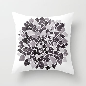 Beauty In Black & White  Throw Pillow by TigaTiga Artworks