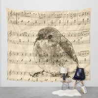 Songs of Birds Wall Tapestry by Nirvana.K