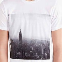 Rosser Riddle NYC Skyline Photo Tee- White