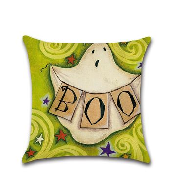 Halloween decoration for kids bedroom gift home house party witch pumpkin cat funny ghost pillow case Cushion Cover chair sofa
