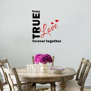 Creative True Love Wall Sticker Together Forever Bedroom Removable Vinyl