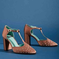 LAB Studded T-Strap Pumps
