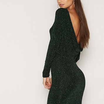 Scoop Back Sparkle Dress, NLY One