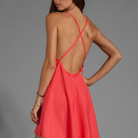 Naven Babydoll Dress in Neon Coral