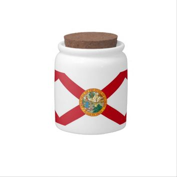 Florida State Flag Candy Jar