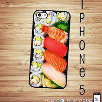 iPhone 5 Case Sushi Bento Box Hard Case /Hard Case For iPhone 5 Japanese Sushi Plate