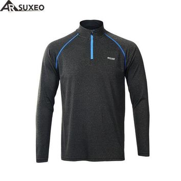 PEAPFS2 ARSUXEO 2017  Men's Running T Shirts Tee  Active Long Sleeves Quick Dry Training Jersey Sports Clothing Workout GYM Shirt M17T1