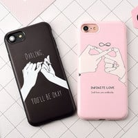 Phone Case For iphone 6s Case for iPhone 6 Plus 7 7 Plus Covers Candy Color Retractor Sign Couple Back Soft TPU Phone Covers