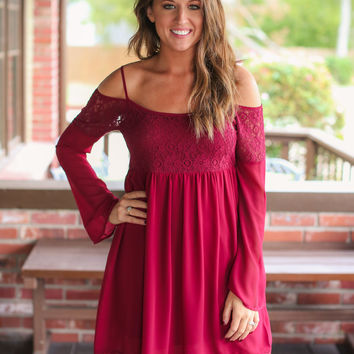 Cranberry Bliss Dress - Burgundy