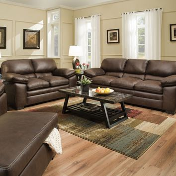Shiloh Sable Sofa and Loveseat