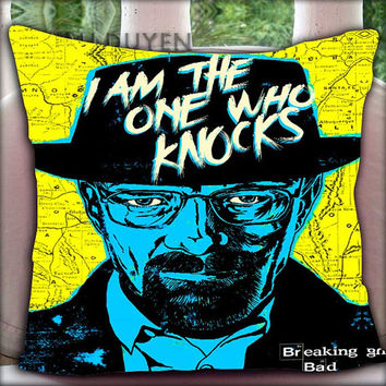 Breaking Bad Heisenberg - Pillow Cover Pillow Case and Decorated Pillow.