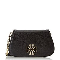 Tory Burch Women's Britten Mini Cross Body Bag, Black, One Size