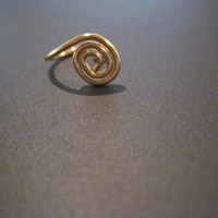 "No Piercing ""Tiny Spiral"" Nose Cuff /Ring 1 Cuff  - Gold Tone or Lots of Color Choices"