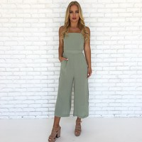 Melrose Jumpsuit in Sage