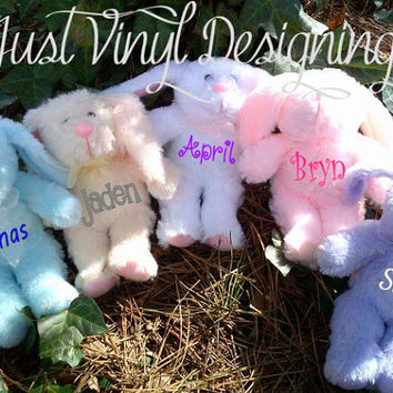 Monogram Easter Bunny, Personalized Bunny, Plush Rabbit, Child's Bunny