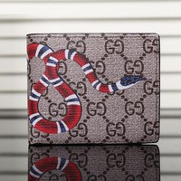 DCCK Gucci Man Leather Purse Wallet For Tiger Angry Cat Snake