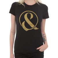 Of Mice & Men Gold Glitter Ampersand Girls T-Shirt