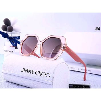 Jimmy Choo Tide brand female polygon large frame color film polarized sunglasses #4
