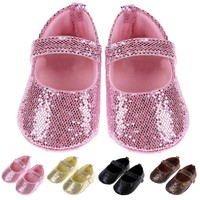 Frinas Baby girl Sequin Mary Janes Flat