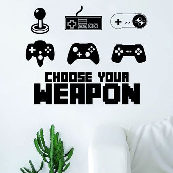 Choose Your W Gamer Video Game Decal Sticker Wall Vinyl Decor Art Home Bedroom Retro Classic Nerd Teen Funny Controller