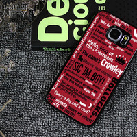 Supernatural Crowley Quotes Samsung Galaxy S6 Edge Plus Case iPhonefy