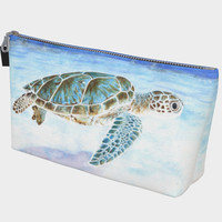 Sea turtle underwater Makeup Bag Makeup Bag