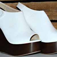REAL DEAL WEDGES IN WHITE