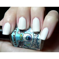 Matte Nail Polish, Mayonnaise - White