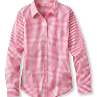 Wrinkle-Free Pinpoint Oxford Shirt, Long-Sleeve Gingham