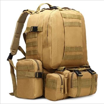 45L Molle housekeeper Tactics Backpack Waterproof 1000D High capacity Assault Travel Military Rucksacks Army Bag / by dhl 10pcs