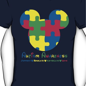 Mickey Mouse Autism Awareness Women's T-Shirt