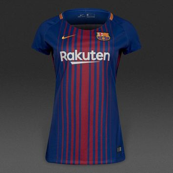 KUYOU Barcelona  2017/18 Home Women Shirt Personalized Name and Number