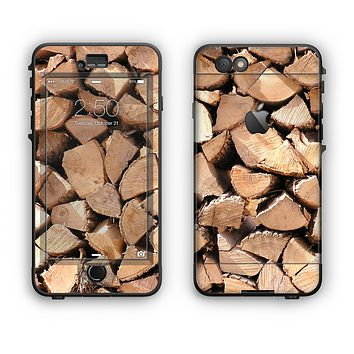 The Chopped Wood Logs Apple iPhone 6 LifeProof Nuud Case Skin Set