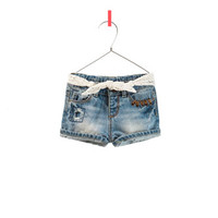 DENIM SHORTS WITH EMBROIDERED BELT - Collection - Baby girl - Kids | ZARA United States