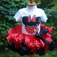 Minnie Mouse Birthday Outfit, red Minnie Mouse tutu, Birthday Minnie tutu, Minnie mouse birthday, Minnie mouse tutu, Minnie mouse birtdhay