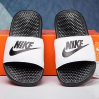 NIKE Fashion Solid Color Casual Flats Sandals Shoes