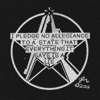 No Allegiance to Lies Crust DIY Punk Rock Political Cloth Patch