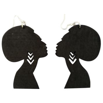 Afro Silhouette Earrings | Natural hair earrings | Afrocentric earrings | jewelry | accessories