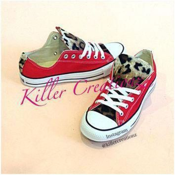 ICIKGQ8 custom leopard low top converse any color size made to order