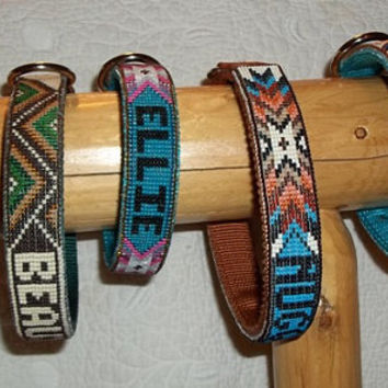 Handmade beaded dog collar