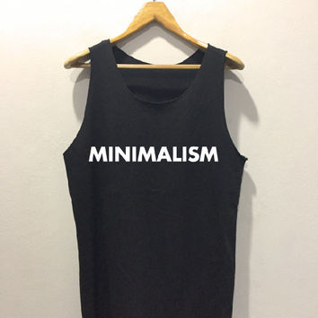 MINIMALISM • Tank top sport • Quote Tank top• Slogan Tank top • Made to order