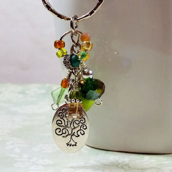 Tree of Life Keychain, Tree of Life, Key Chain, Womens Keychains, Keychains for Women, Beaded Keychain, Keychain, Key Chain, Tree Keychain