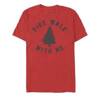 Twin Peaks Fire Walk With Me Sycamore Trees Me Adult Unisex T-Shirt - Red