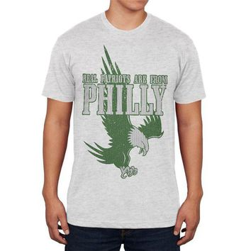 DCCKU3R Real Patriots Are From Philly Vintage Distressed Mens Soft T Shirt