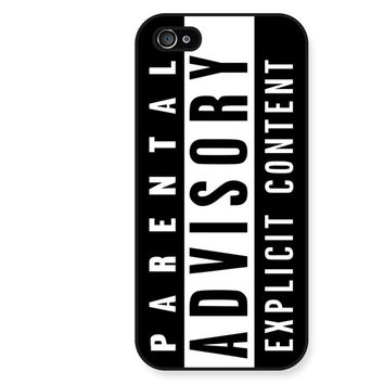 Parental Advisory iPhone 5 Case - iPhone 5 5S 5C 4 4S Case Cover