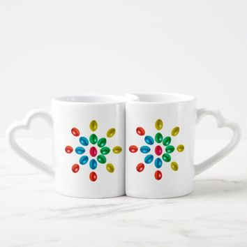 Easter eggs coffee mug set