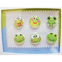"""""""Home"""" Button Sticker for iphone/ipad/itouch, Froggy, 6 Stickers:Amazon:Toys & Games"""